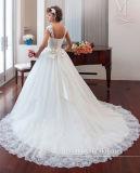 0031 a - линия без бретелек поезд Tulle молельни Appliques платья венчания 2017 шнурка