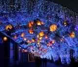 Lanternas de luz solar de Natal solar ao ar livre para decoração de férias