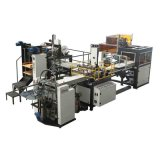 Bubble Pressing Machine (YX-6418A)를 가진 완전히 Automatic Gift Box Maker 또는 Rigid Box Making Machine