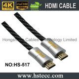 Kabel van het Metaal HDMI van de hoge snelheid 24k de Gouden voor de Speler van Blu Ray, 3D Televisie met Ethernet voor de Speler van Blu Ray, 3D Televisie