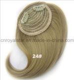 Frange inclinée de cheveu de température élevée de prolonge synthétique en gros de cheveu