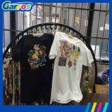 販売のための安いA3小さい平面Garros 3Dデジタルの綿の白くおよび黒いTシャツの印字機