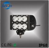 Indicatori luminosi fuori strada di riga LED di alti lumen della barra chiara 60W da 6 pollici LED doppi