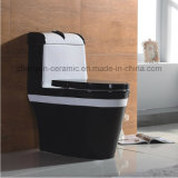 De cerámica de una sola pieza WC Siphonic Flushing S-Trap color WC (A-006)