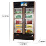 tür-Multimedia-Schaukasten der Öffnungs-560L Glasmit LED-Bildschirm