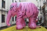 Éléphant animal de dessin animé gonflable géant pour extérieur