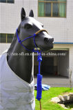 Lead Leather Strip端の編みこみのCrown PP Horse Halter