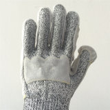 Hppe/перчатки безопасности стеклянного волокна при Cowhide+Pigskin, Cut5