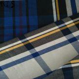 El hilado tejido 100% del popelín de algodón teñió la tela para las camisas/alineada Rlsc40-33