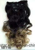 Estensione capa completa dei capelli di Remy del Virgin del paese con la clip