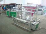Sealing lateral Plastic Garment Bag Making Machine com Folder
