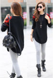 Stampa Sweater con Round Neck Long Sleeve per Women