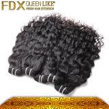 Doppi capelli umani malesi di trama dell'onda di acqua di Fdx (FDX-MWW-33)