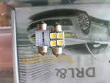 T10 W5w C5w gli adattatori da 31 - 42 millimetri 3 6 indicatori luminosi automatici rossi di SMD 5050 SMD della lampada di lettura dell'automobile del programma interno 12 V dell'indicatore luminoso di cupola