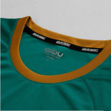 Poliestere 100% Plain Green Running T-Shirt con Printing Logo