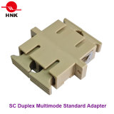 Scのデュプレックス標準プラスチック光ファイバアダプター