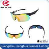 Óculos de sol elevados da bicicleta da estrada da lente do revestimento de Revo da resistência de impato do frame do preto da forma do Mens