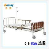 Больничная койка ручной кровати 2 рукояток медицинская