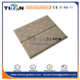 Деревянная плитка панели потолка PVC зерна