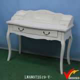 3 tiroirs Shabby Wood Console Table White