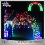 祝祭LEDのアーチのモチーフの屋外の装飾ライトを街灯