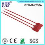 Da tração plástica da inserção do metal da venda da fábrica do fechamento de China selo ajustável apertado do plástico do comprimento