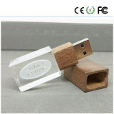 Crystal Wooden Material 8GB USB Flash Drive (SJMZ)