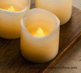 Vela perfumada amarilla del fieltro de la cera sin llama del LED que oscila