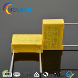 Metallisierter Polypropylen-Gelb-Film-Kondensator (104k/275VAC RoHS Reichweite)