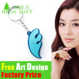 PVC Keychain di Cheap 3D Custom Shaped Soft del fumetto con Logo