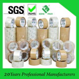 Cartón de embalaje utilizado cinta adhesiva, cinta transparente BOPP, Claro / Negro Cinta de embalaje