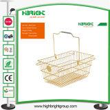 Корзина супермаркетов корзины для товаров металла Oval-Shaped
