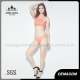 Dame festes Color Beach Wear Knitted Sexy Bikini Lingerie