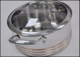 Articoli stabiliti della cucina del Cookware senz'acqua delle 5 pieghe