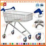 Подгонянная тележка вагонетки покупкы супермаркета металла провода на колесах (Zht188)