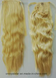機械は長い巻き毛の総合的な毛の縛りのポニーテールを作った