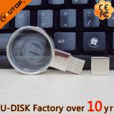 Lecteur flash USB en cristal de loupe/lentille (YT-3270-04L)