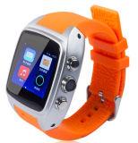 Relógio esperto por atacado da câmera 2g/3G X01 do podómetro que suporta o cartão de SIM