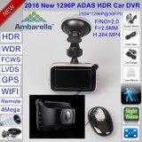 """Nuova 2.7 """" automobile DVR di Ambarella A7la50 4.0mega Hdr/WDR 1296p con il GPS DVR-2718"""
