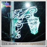 Luz ao ar livre da decoração da luz de Natal do motivo de Pólo da rua do diodo emissor de luz