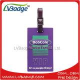Tag de borracha relativo à promoção elevado da bagagem do PVC de Qualit