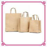 Bolso de compras personalizado del papel de Kraft Brown con la maneta torcida papel