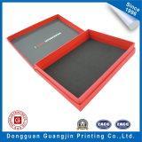 Коробка красного цвета напечатанная бумажная упаковывая