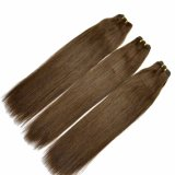 Fashion Hair Brown Color 100% Remy Human Hair Weft