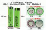 POS, 저속한 빛 및 건전지 팩 ODM에 사용되는 3.7V 3200mAh NCR18650be 리튬 이온 건전지