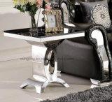 ホーム家具の現代デザイン緩和されたガラスのダイニングテーブル