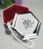 Caja de joyería plateada plata (VAGOS 12716 BS)