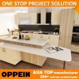 Oppein entrega rápida de madera de laminado de melamina gabinete de cocina al por mayor (OP14-K004)