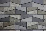 Mosaico del basalto, azulejo de mosaico y mosaico negros/grises de la piedra