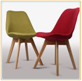 HauptChairs mit Rose Fabric Cover und Original Wooden Legs